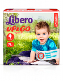 Libero Подгузники NEW Up&Go Maxi,гига(74) 7-11(4)(5519)
