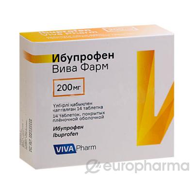 Ибупрофен Вива Фарм 200 мг № 14 табл