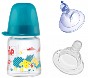 NIP бутылочка тренировочная пластиковая д/мал с соской силикон 150мл
