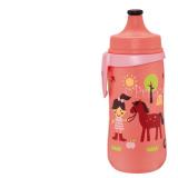 NIP поильник пластиковый д/девочек с соской силикон 330мл