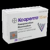 Ксарелто 15 мг № 28 табл п/плён оболоч