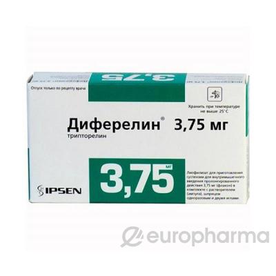 Диферелин 3,75 мг, №1, шприц