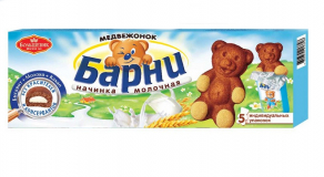 "Барни медвежонок с ""Молочной начинкой"" 24х30 г Промо"