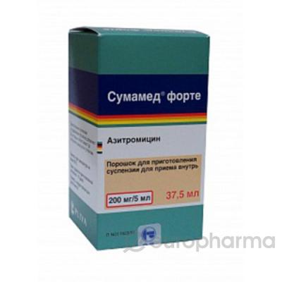 Сумамед форте 200 мг/5мл, 37,5 мл, пор.
