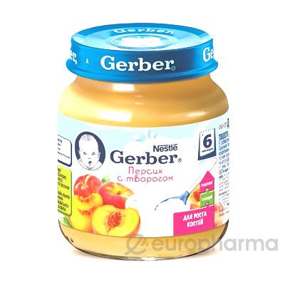 Gerber пюре персик с творогом детское 125 г
