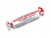 Аскорбиновая кислота  с сахаром №10 0,025 мг
