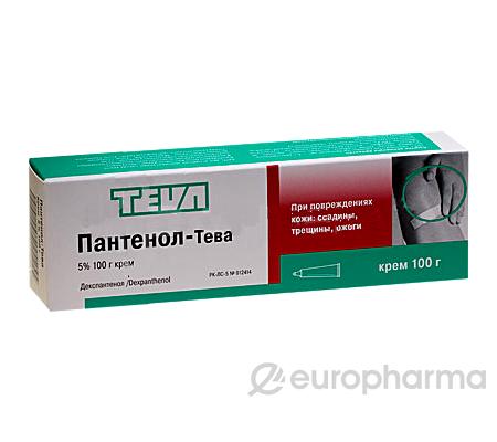 Пантенол-Тева 5%, 100 гр, крем в тубе