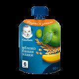 Gerber пюре яблоко банан злаки для детей с 6 месяцев 90 г