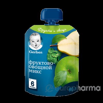 Gerber пюре фруктово-овощной микс для детей с 6 месяцев 90 г