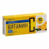 """Витамин С """"Вива Фарм"""" 500 мг, №10, табл."""