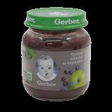 Gerber пюре яблоко и черника для детей с 5 месяцев 130 гр
