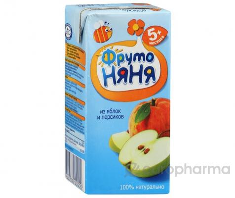 Фрутоняня сок яблочно-персиковый,неосветленный 0,5 л