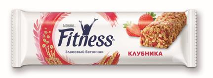 Nestle батончик Fitness клубника злаковый 23,5 г