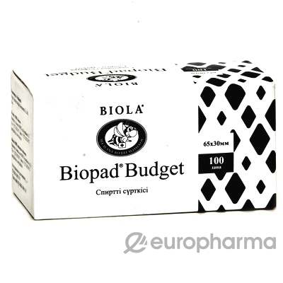 Салфетка спиртовая (65*60), Biopad одн.