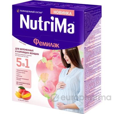 NutriMa питание Фемилак на молочной основе для беременных и кормящих матерей 350 г