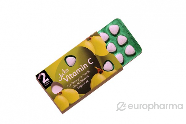 Jake леденцы витамин С виноград № 15 шт