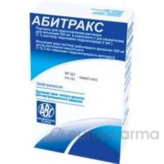 Абитракс 500 мг раств. 2 мл 1% р-р лидокаина №1 пор.д/р-ра д/ин.флак.