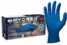 Перчатки HYDREX,супер плотные, нестерил. Неопуд. Текстур. Нитрил.M
