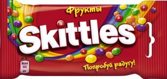 Леденцы Skittles 38 гр Попробуй радугу