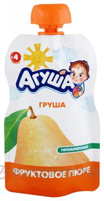 Агуша пюре груша фруктовое детское 90 г
