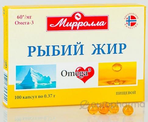 Рыбий жир №100, капс. миролла