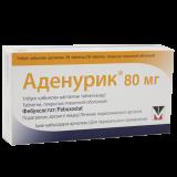 Аденурик 80 мг № 28 табл п/плён оболоч