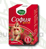 София клубника 2 гр., №30 фито чай для похудения, Белла