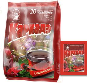 Каркаде с шиповником 2 гр, №20, фито чай