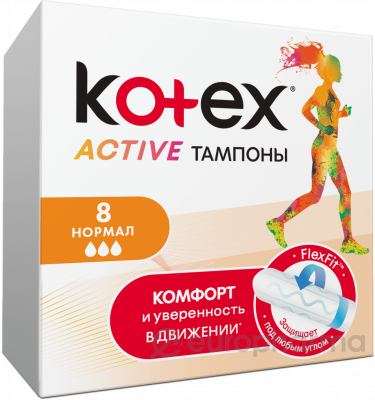 Kotex тампоны Aktive Normal 16x8