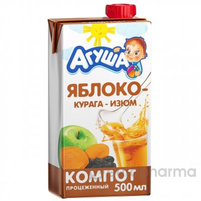 """Компот """"Агуша"""" 0,5л Курага-Изюм-Яблоко"""