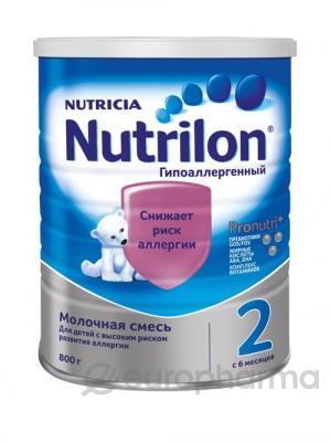 Nutrilon смесь Гипоаллергенный 2 молочная для детей с 6 месяцев 800 г