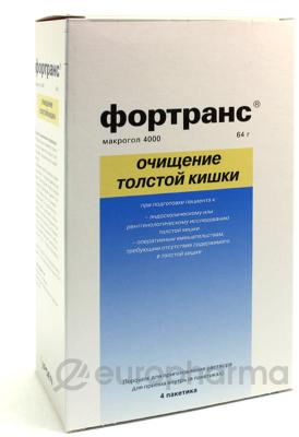 Фортранс пор д/пригот-я раствора д/приема внутрь № 4 пакетики