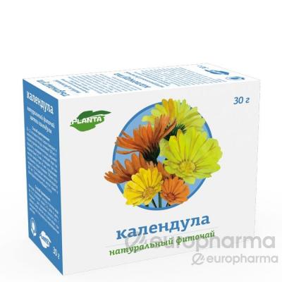 Календула цветки 1 гр, №20  фито чай, Planta Natura
