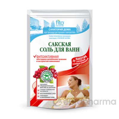 Соль для ванн Сакская Фитоактивная 530 гр