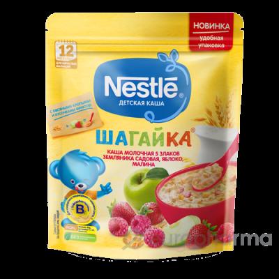 Нестле каша Шагайка 5 злаков+овсяные хлопья+клубника+яблоко+малина 200 гр