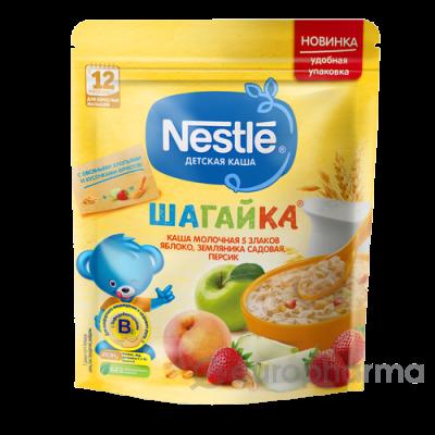 Нестле каша Шагайка 5 злаков+овсяные хлопья+яблоко+клубника+персик 200 гр