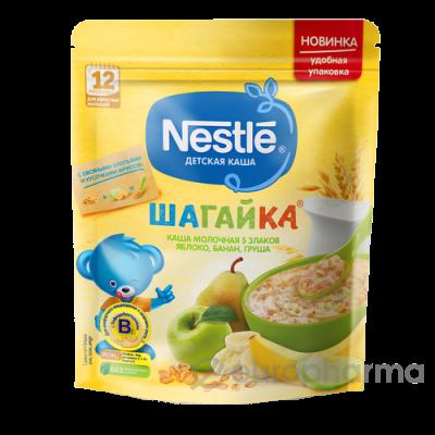 Нестле каша Шагайка 5 злаков+овсяные хлопья+яблоко+банан+груша 200 гр