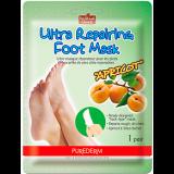 Purederm маска ультразаживляющая для ног с экстрактом абрикоса №1