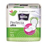 Bella прокладки Perfecta Ultra Green 2х10 шт (белая линия)