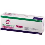 Пульмикорт 0,5 мг/мл  2 мл  20 порошок для ингаляций дозированный
