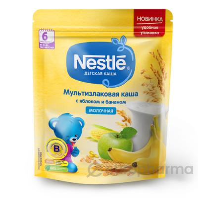 Нестле каша молочная Мультизлаковая с яблоком и бананом 220 гр