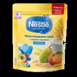 Нестле каша молочная Мультизлаковая с грушей и персиком 220 гр