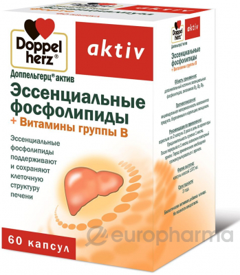 Доппельгерц Актив Эссенциальные фосфолипиды+витамины группы В 1070 мг №60 капс