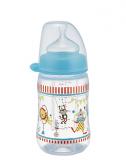 NIP бутылочка  пластиковая д/мал с соской силикон 260мл 0+