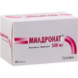 Милдронат 500 мг, №60, табл.
