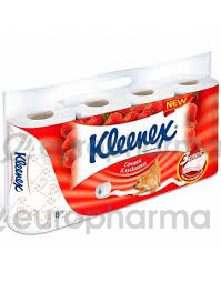 Клинекс туалетная бумага Sensation Strawberry 8х5