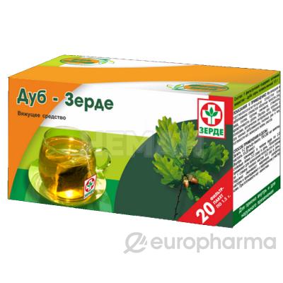 Дуб кора Зерде 1,5 г. №20, фито чай