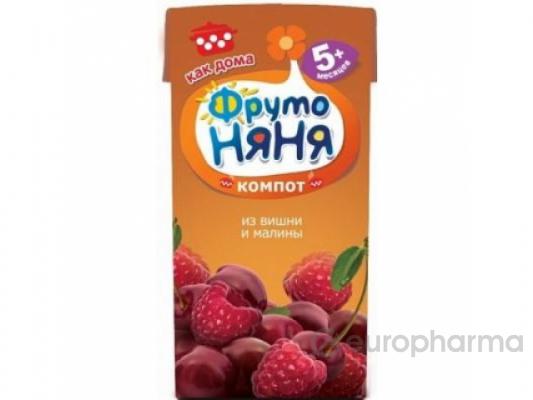 Фрутоняня 0,2 л. Напиток вишнево-малиновый