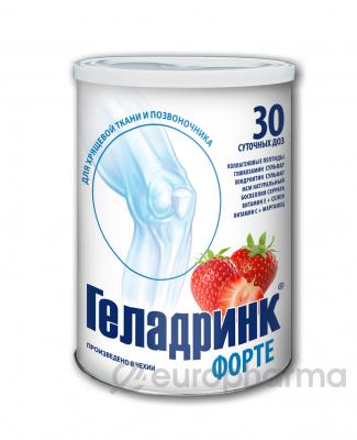 Геладринк Форте клубника 30 сут. доз порошок в бан.