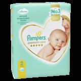 Подгузники Pampers Premium Care, Вес 4–6 кг, Размер 2, 66 шт